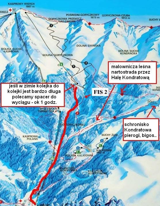 Goryczkowa - mapa tras