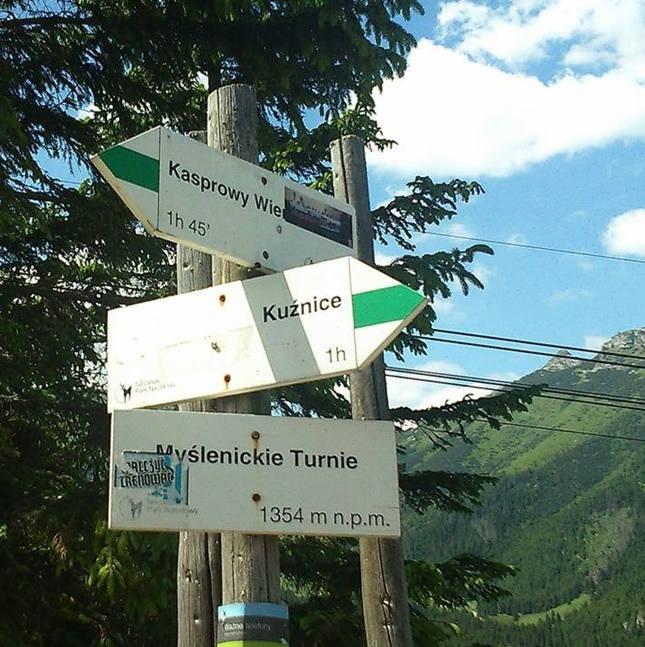 Kasprowy Wierch - skrzyżowanie na Myslenickich Turniach