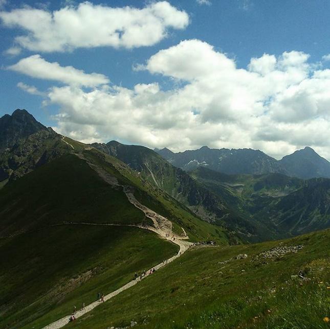 Kasprowy Wierch - widok ze szczytu