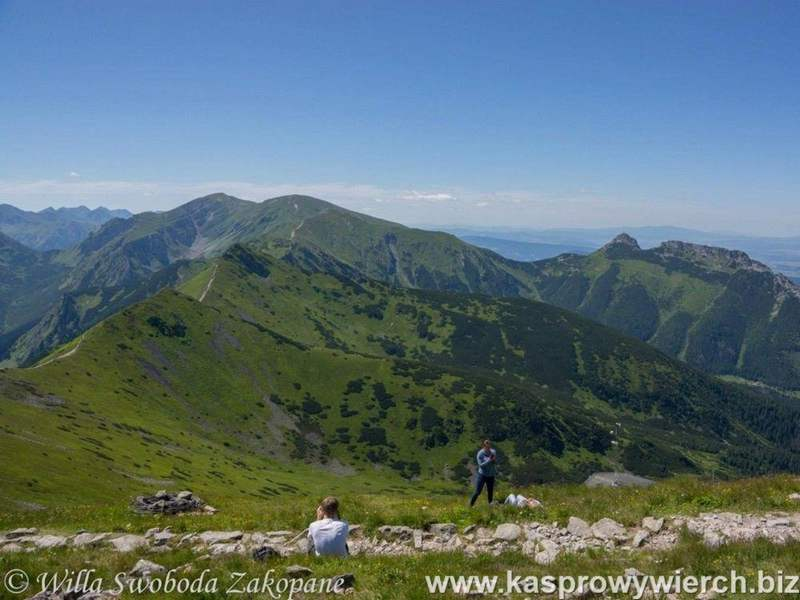 The view from the top of Kasprowy Wierch of the Western Tatras