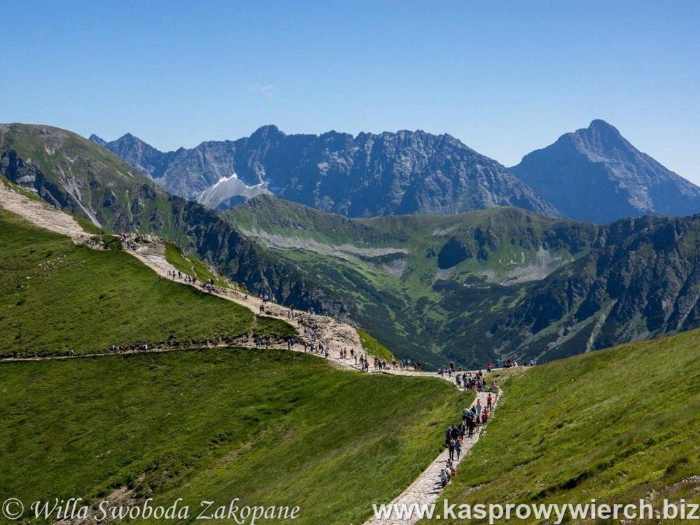 Kasprowy Wierch - widok na Tatry Wysokie