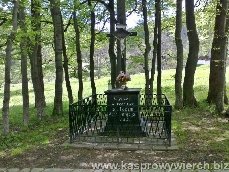 pomnik Nieznanego Sługi w parku w Kuźnicach, jeden z najstarszych zabytków w Zakopanem