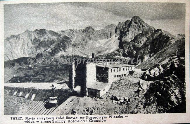 stacja kolejki na Kasprowym Wierchu ok. 1938r