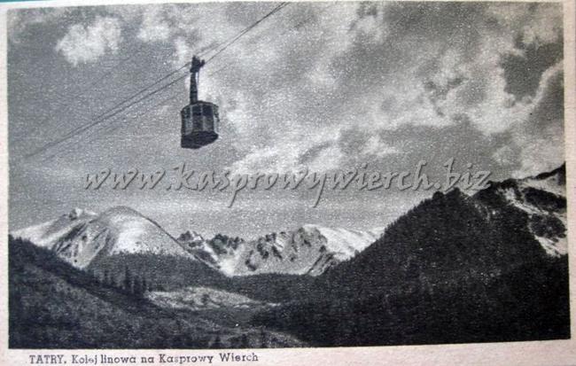 wagonik kolejki na Kasprowy Wierch ok. 1938r